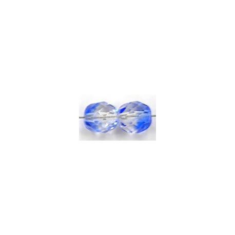 Facetkraal 8mm blauw/transparant 25 stuks