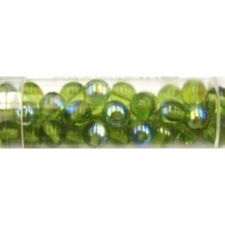 Gutermann regenboogparels 6mm lichtgroen ca 40st.