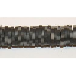 Katsuki beads 6mm zwart/grijs streng ca 380st.