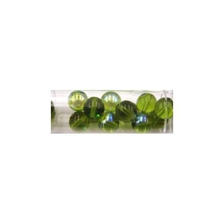 Gutermann regenboogparels 8mm licht groen 14st.