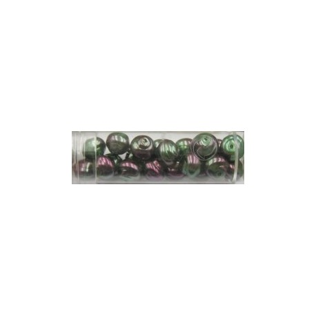 Gutermann Hawaii parels 8mm grijsgroen/roze 20st