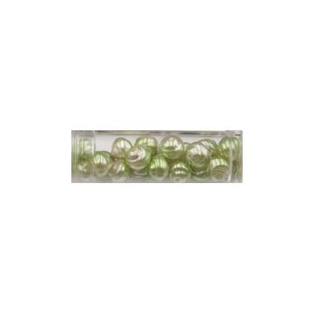 Gutermann Hawai-parels 8mm lichtgroen/zilver ca20s