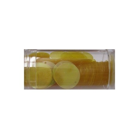 Pailletten 15mm hangend geel AB 11 gr.