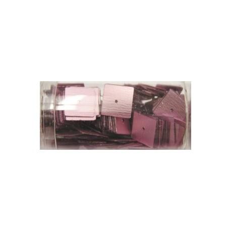 vierkante pailletten 10mm rose 8 gram