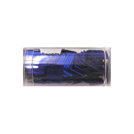 vierkante pailletten 10mm capriblauw 8 gram