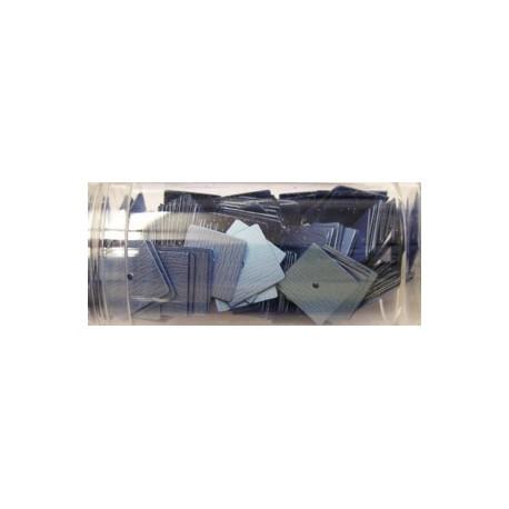 vierkante pailletten 10mm lichtblauw 8 gram