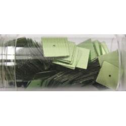 vierkante pailletten 10mm olijfgroen 8 gram