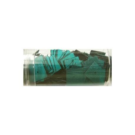 vierkante pailletten 10mm donkergroen 8 gram