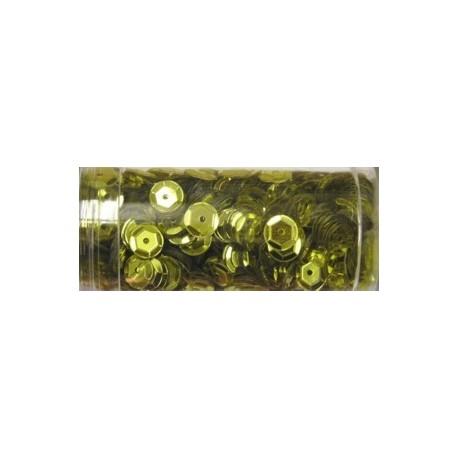 Gutermann pailletten 6mm cup geel 9 gr