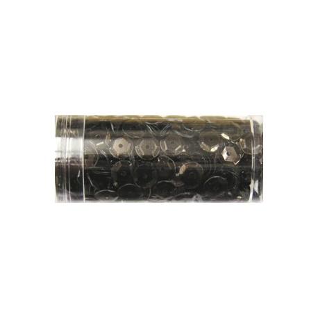 Gutermann pailletten 6mm cup bruinzwart 9 gr
