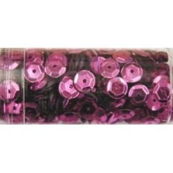 Gutermann pailletten 6mm cup midden rose 9 gr