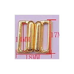 Inhaaksluiting 14mm goudkl. p.st.
