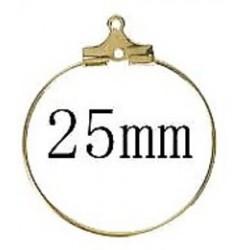 Oorhanger creool 25mm goudkl. p.p