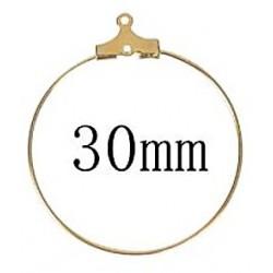 Oorhanger creool 30mm goudkl. p.p