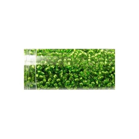Gutermann rocailles 9/0 groen zilver kern ca. 28gr