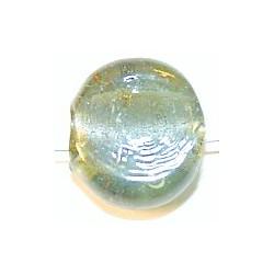 Glaskraal schijf ca23mm grijs p.st