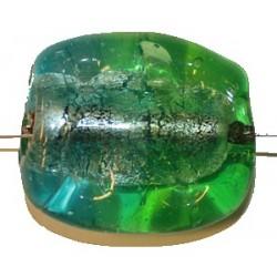 Glaskraal ca 30mm groen/zilver p.st