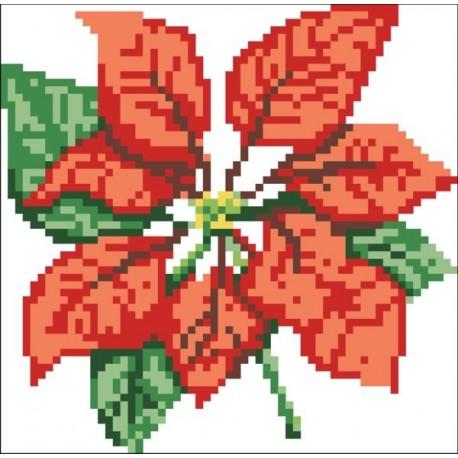 Borduurpakket Poinsettia 14x14cm