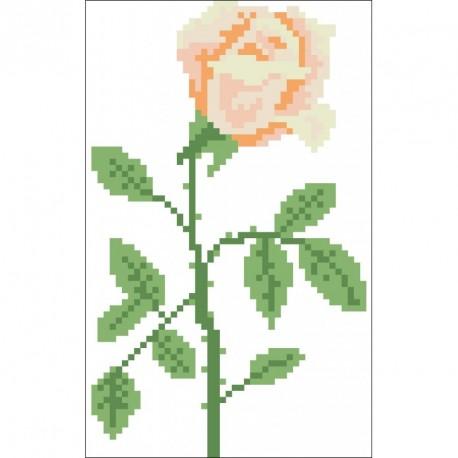 Borduurpakket lange roos 17x11cm