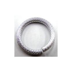 Rhodium ring 28mm bewerkt 2st
