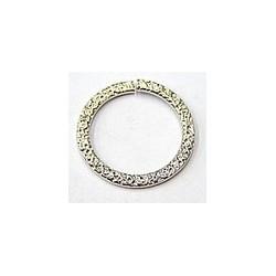 Metalen ring 26mm zilverkl. p.st