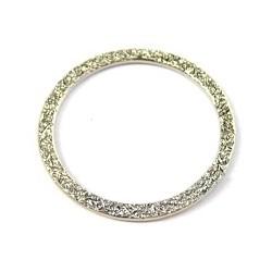 Metalen ring 36mm zilverkl. p.st