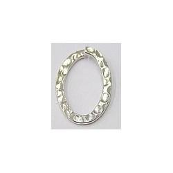 Metalen ring ovaal 30x20mm zilverkl p.st