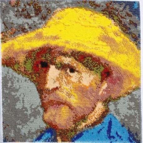 Borduurpakket Vincent van Gogh 35x35cm.