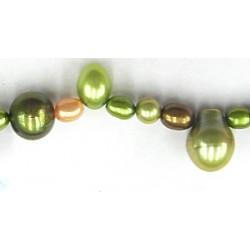 Parel diverse kleuren groen mix ca 40cm.