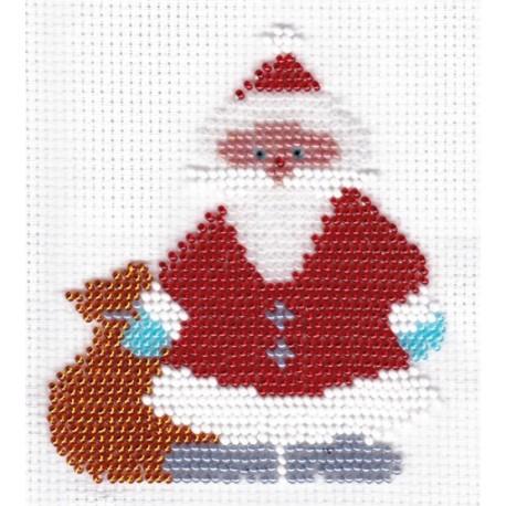 Borduurpakket kerstman 10x11 cm