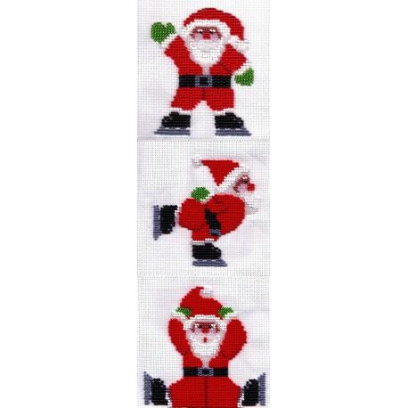 Borduurpakket kerstmannen 37x12cm