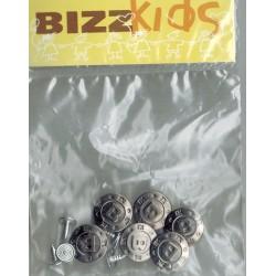 Inslagknoop metaal zilverkl. met B 5st