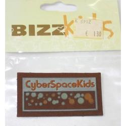Applicatie Cyber Space Kids 35x60mm groen