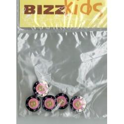 Knoop 17mm metaal rose met letter B 5st