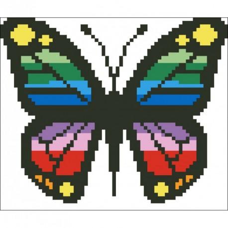 Borduurpakket vlinder multicolor 12x15cm