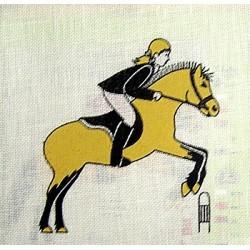 """Borduurpakket Paardspringen"""""""""""