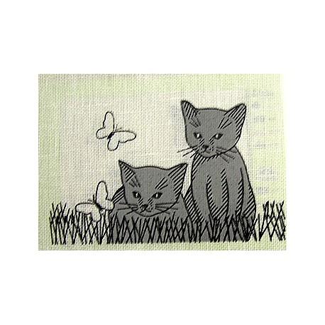 """Borduurpakket Katje met vlinders"""""""""""