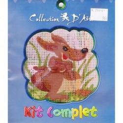Borduurpakket kangaroo 10x10cm