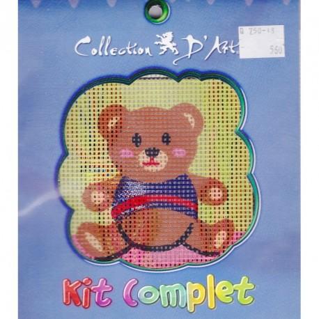 Borduurpakket speelgoedbeer 10x10cm