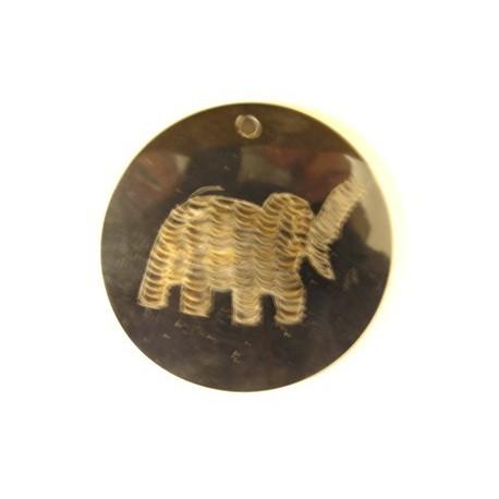 hanger van hoorn rond olifant 60mm p.st