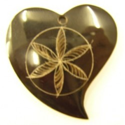 hanger van hoorn hartvorm 55mm p.st