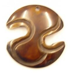 hanger van hoorn Z-vorm bewerkt 53mm p.st