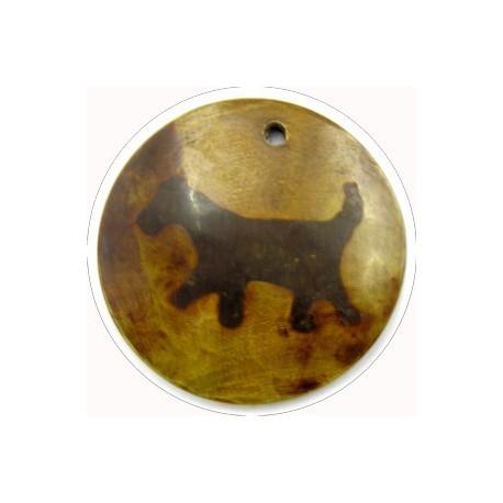 hanger van hoorn rond hond 49mm p.st