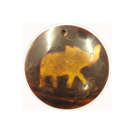 hanger van hoorn rond olifant 49mm p.st