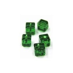 kubus kristal 4mm smaragd per 5