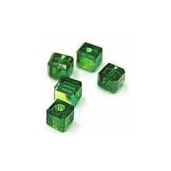 kubus kristal 4mm smaragd AB per 5