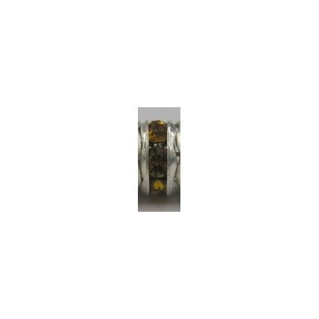 Rondel 7mm zilverkl. smoke topaasbruin 1023 5st