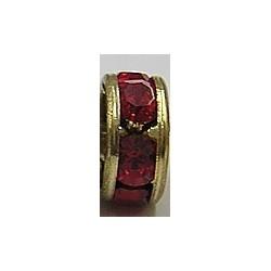 Rondel 6mm goudkl rood 9008 5st