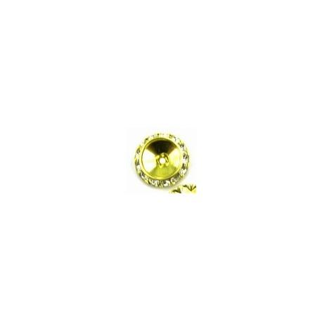 schuine rondel 20x15mm goudkl. 2 stuks