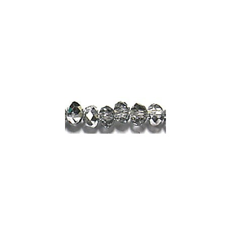Facetkr disc 3x4,5 christal/silver 45cm ca 140st.